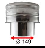 Onderaansluitstuk RVS EW 150(149) - DW 150-200 (dubbelwandig 150-200)