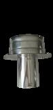 Universersele draaikap Ø125 mm DW rookkanaal