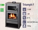 Victoria Triumph F houtkachel met oven 15kW, Rendement 76,91% - Kachels en Rookkanalen Almere BV