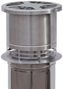 DraftOptimizer Mechanische rookgasventilator Ø146 tot 200 (met universele adapter ook voor DW Ø125 en Ø250 mm) RVS