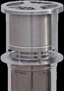 DraftOptimizer Mechanische rookgasventilator 125mm RVS